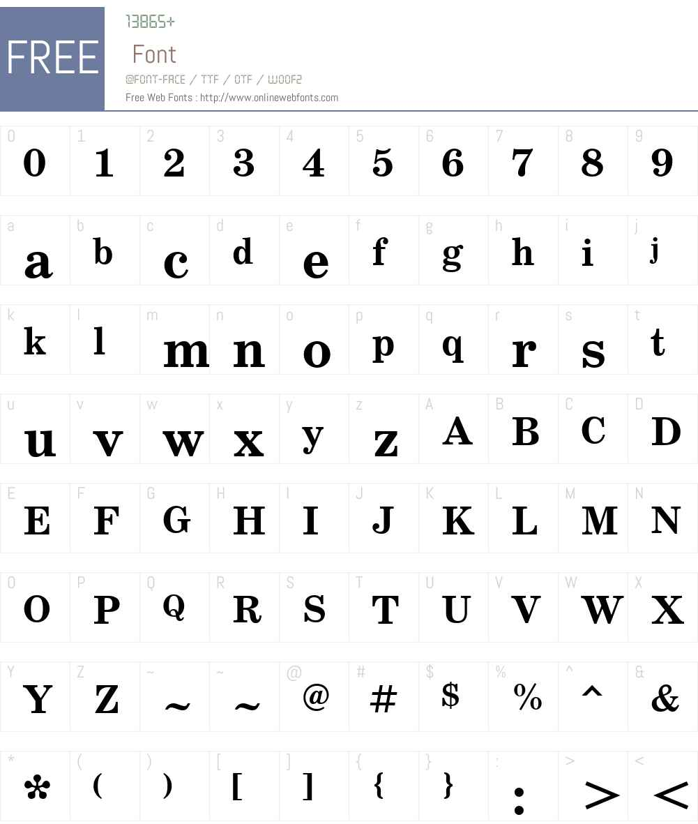 SchoolBookW01-Bold Font Screenshots
