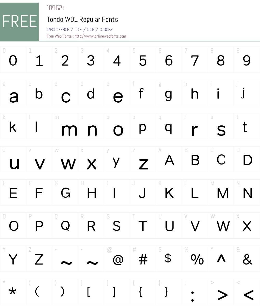 TondoW01-Regular Font Screenshots