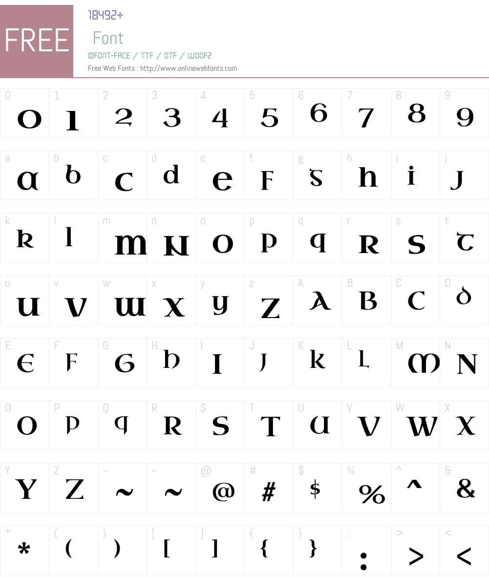 Uncial Antiqua Font Screenshots