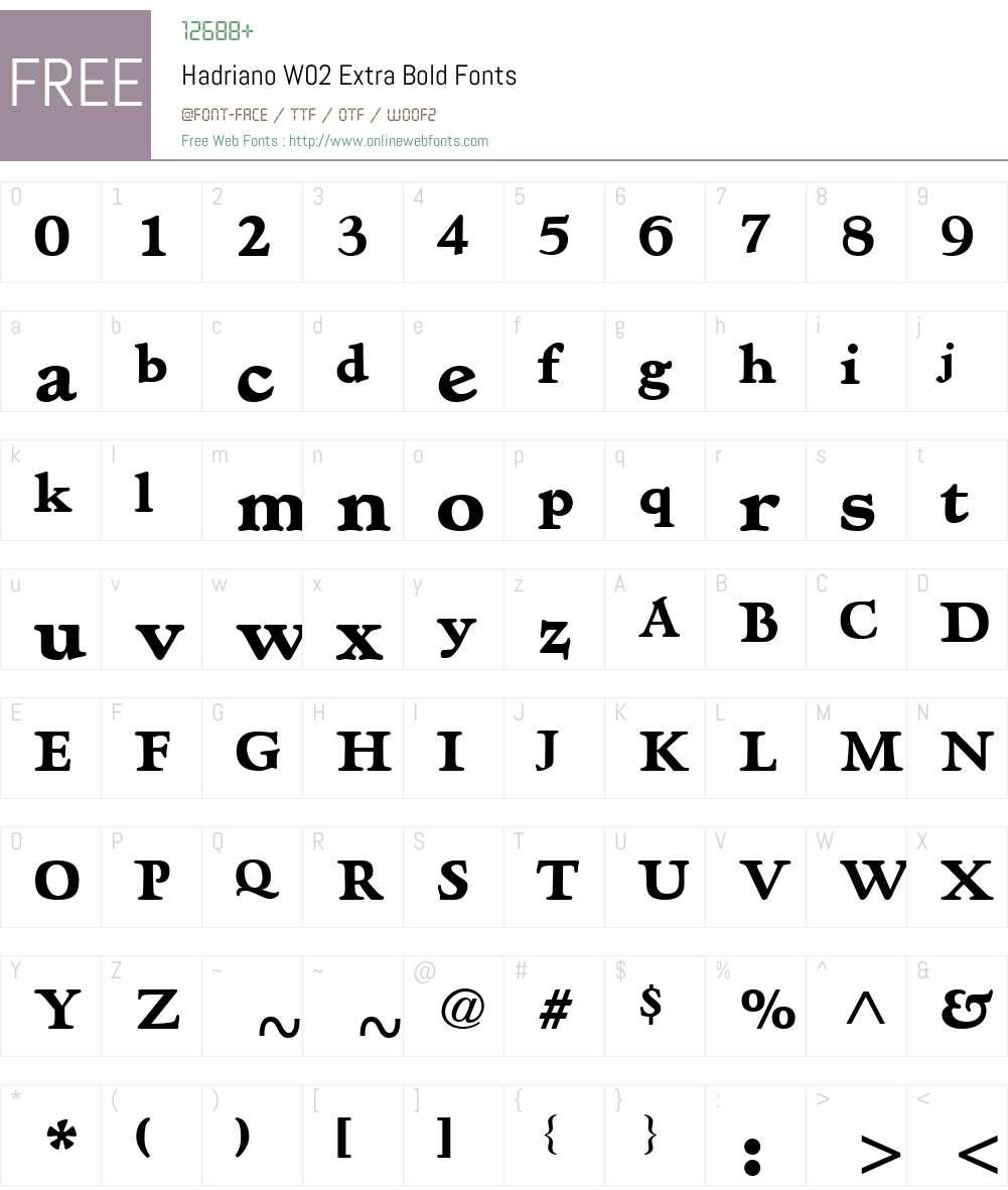 Hadriano Font Screenshots