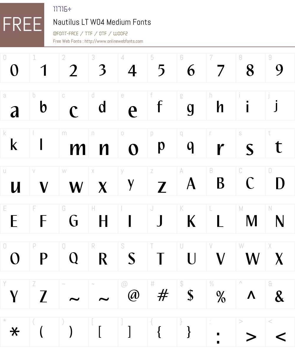 Linotype Nautilus Font Screenshots