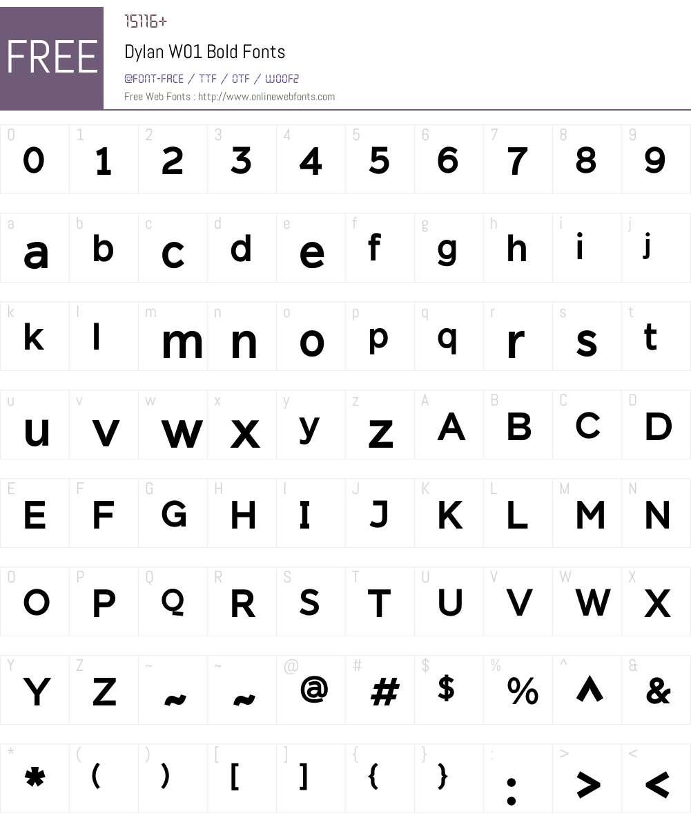 DylanW01-Bold Font Screenshots