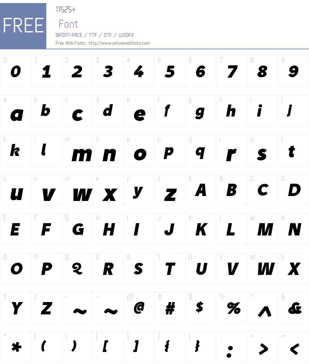 TipW01-HeavyItalic Font Screenshots