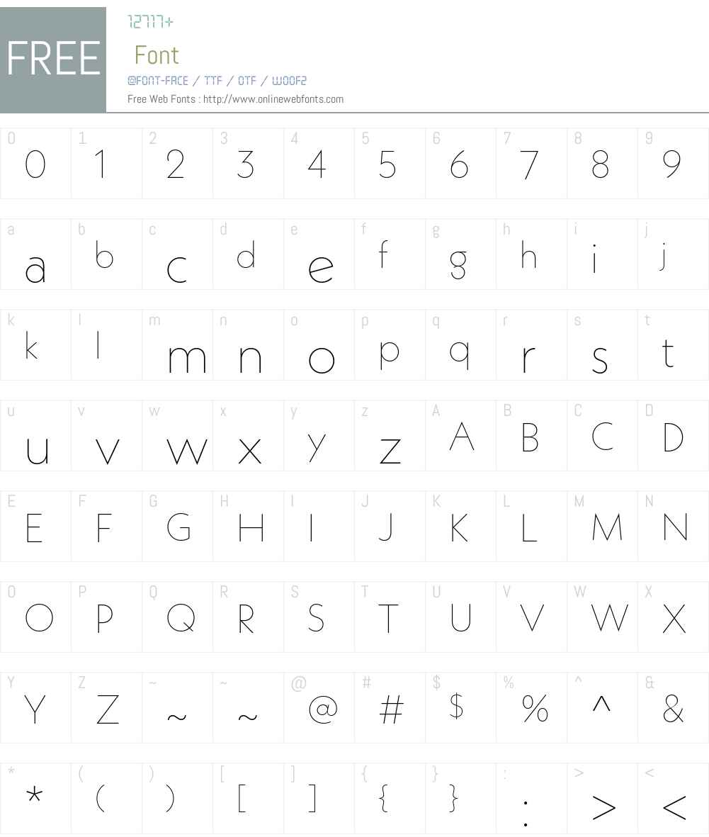 NeueKabelW01-Thin Font Screenshots
