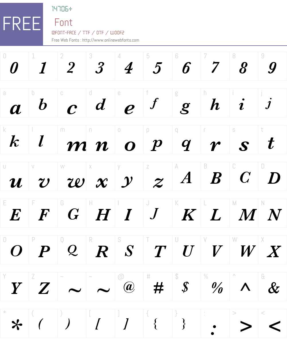 Monotype Baskerville Font Screenshots