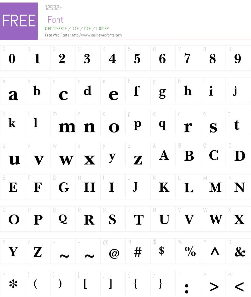 BaskervilleLTW01-Bold Font Screenshots