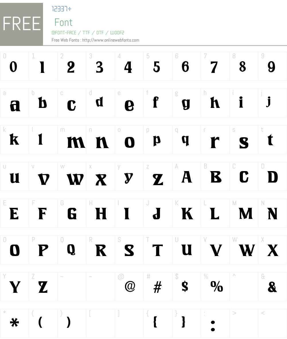 LookingGlass Font Screenshots