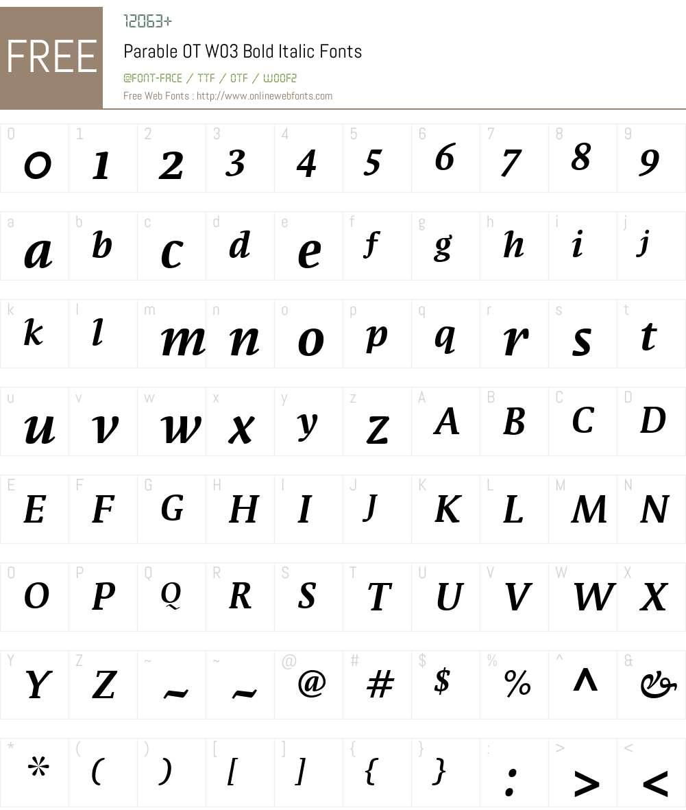 FF Parable Font Screenshots