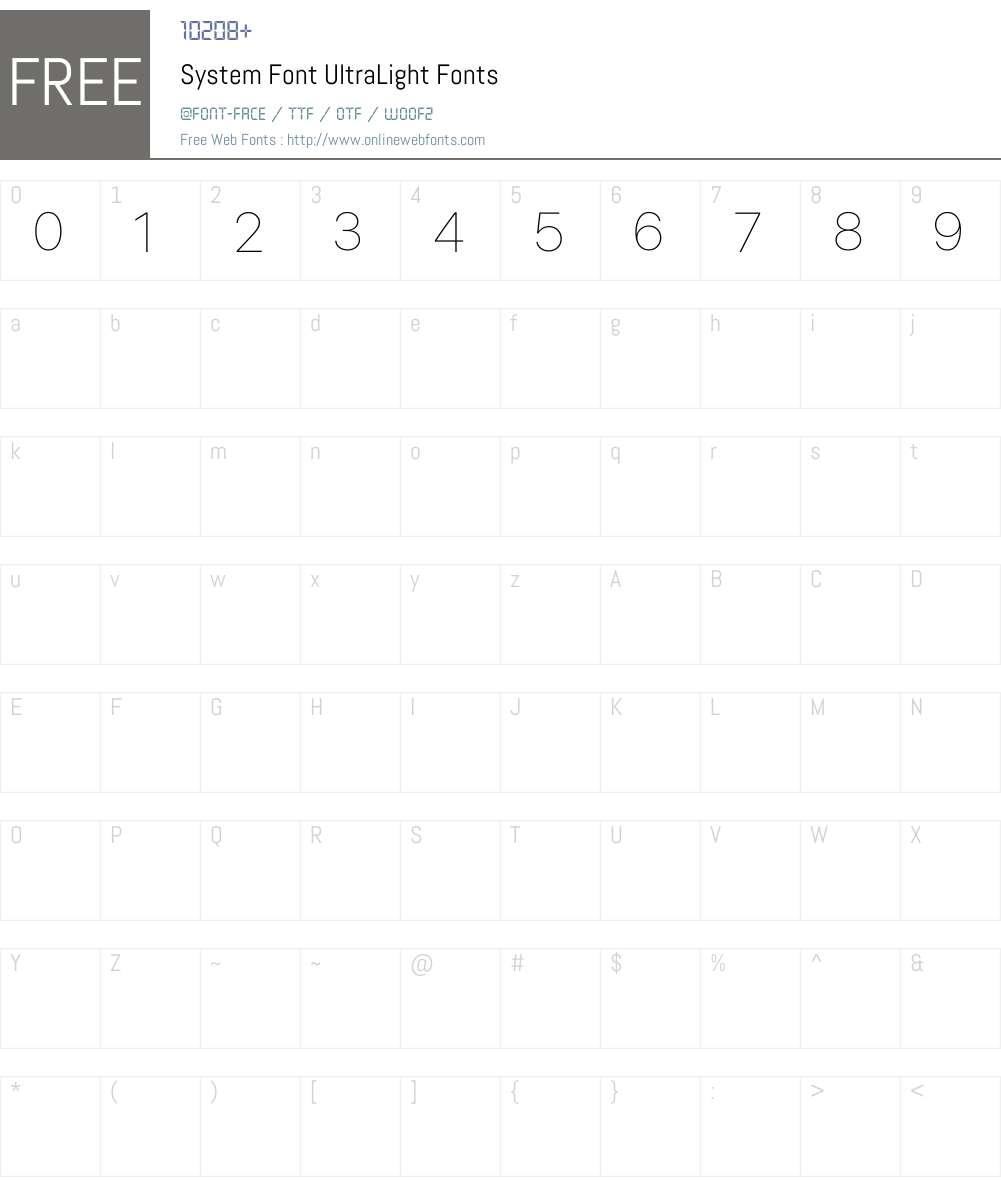 System Font Font Screenshots