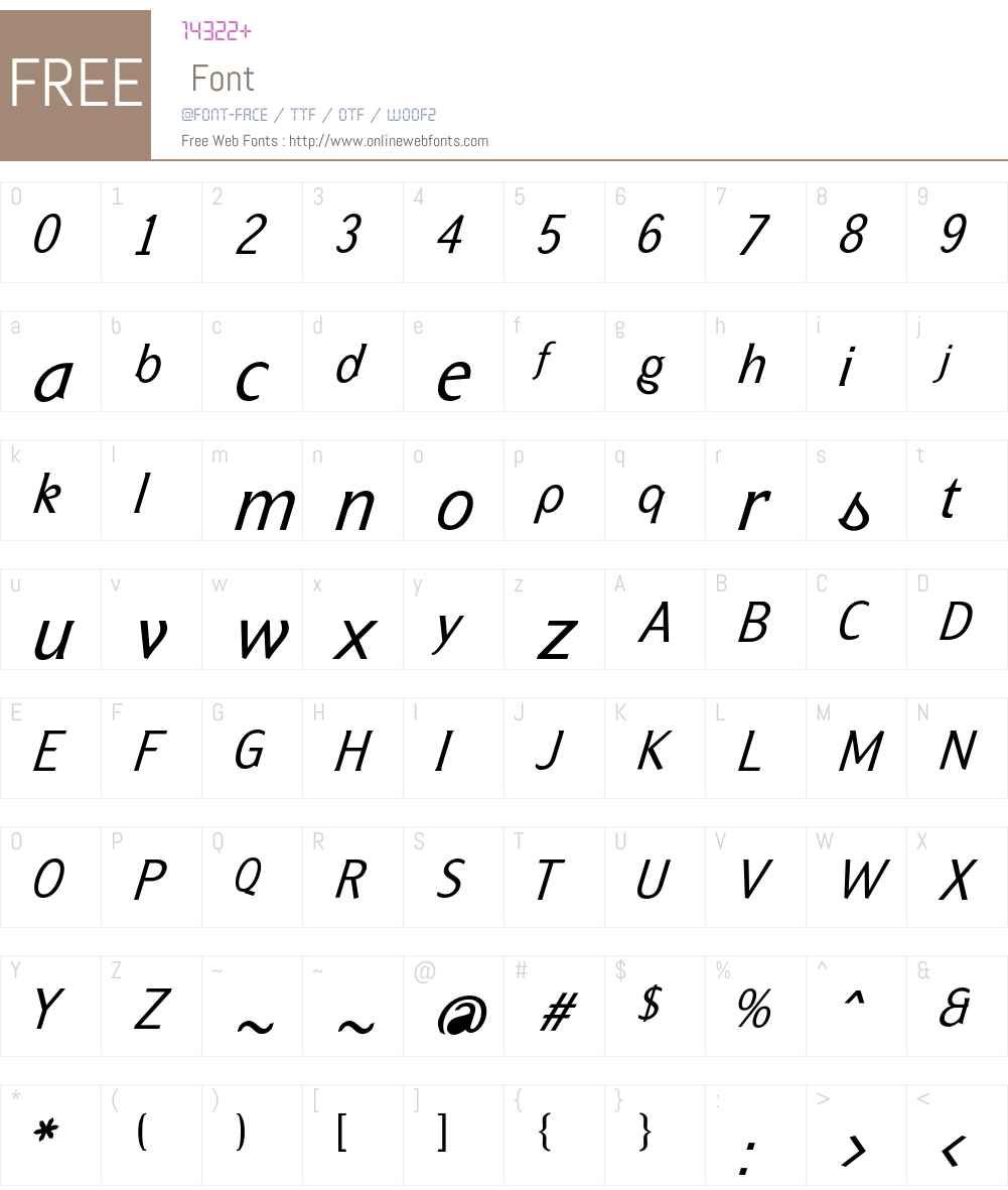 Formica Font Screenshots