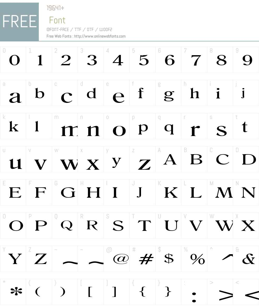 Roomy Extended Font Screenshots