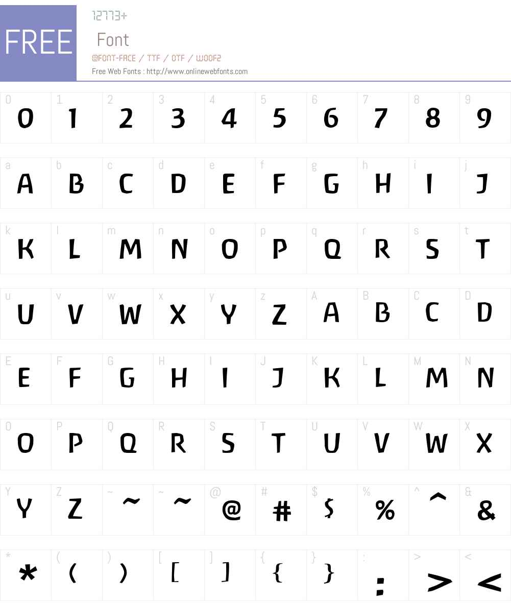 Antropos Font Screenshots