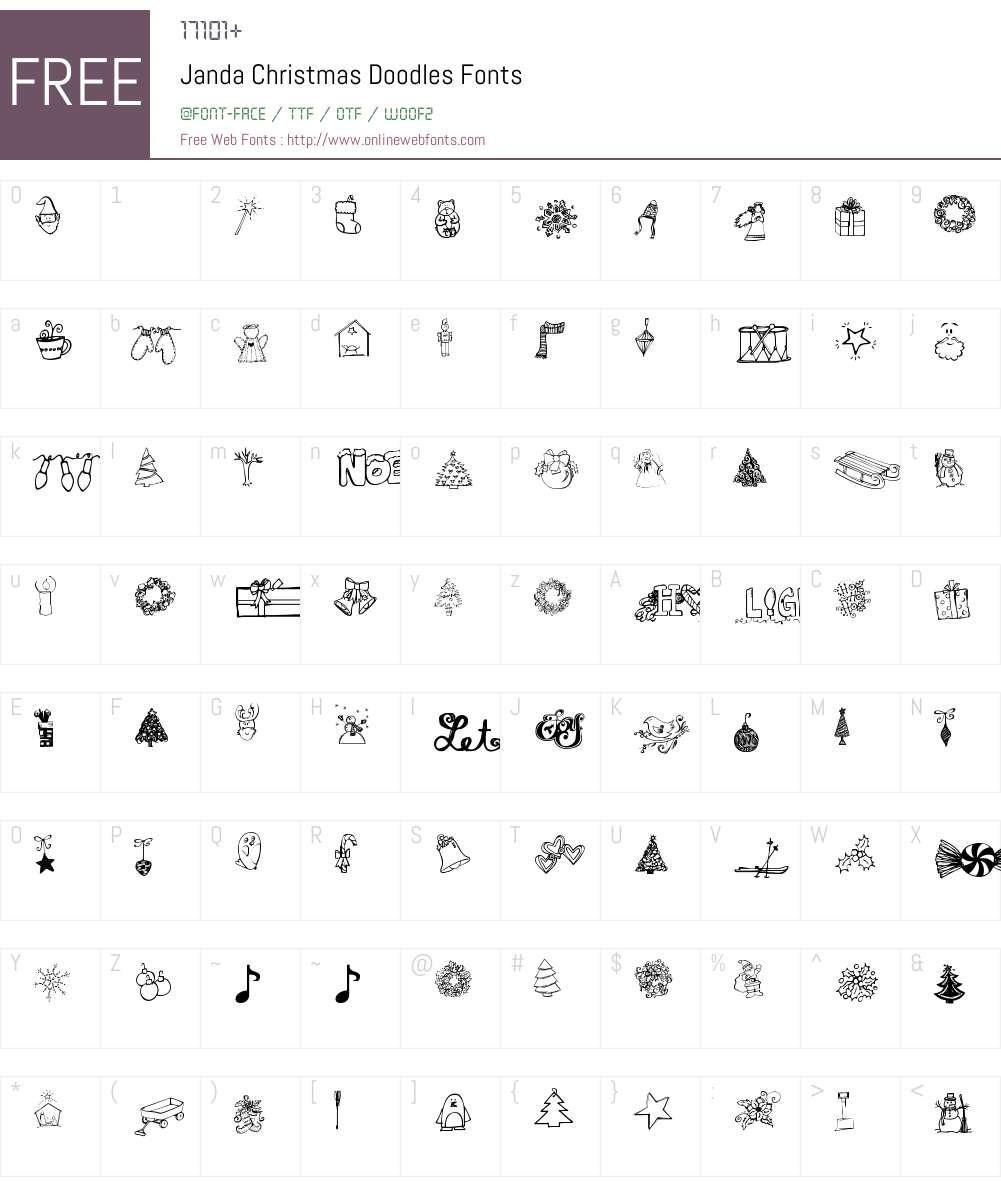 Janda Christmas Doodles Font Screenshots
