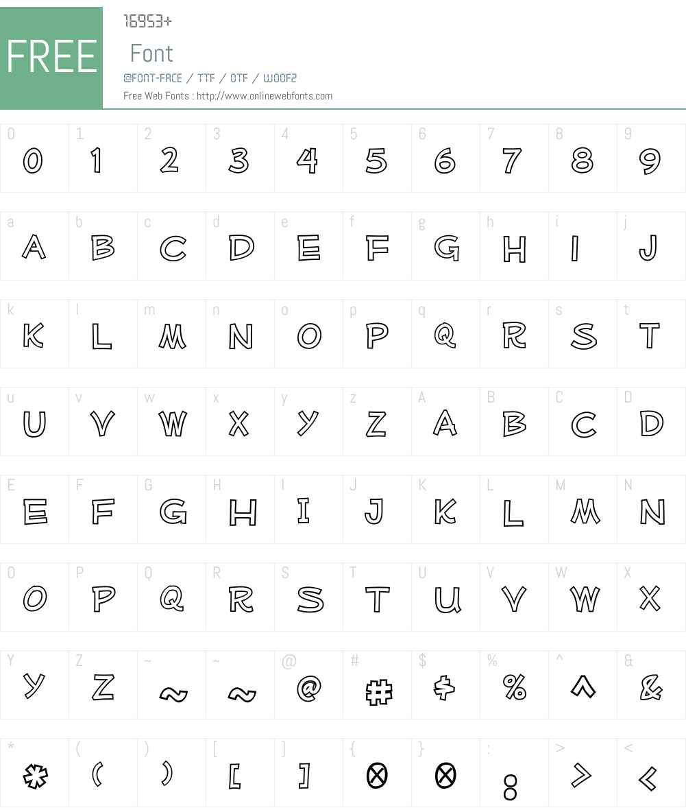 MufferawW00-Outline Font Screenshots