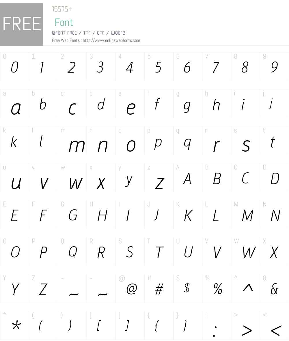 ArgumentumW01-UltraLightIt Font Screenshots