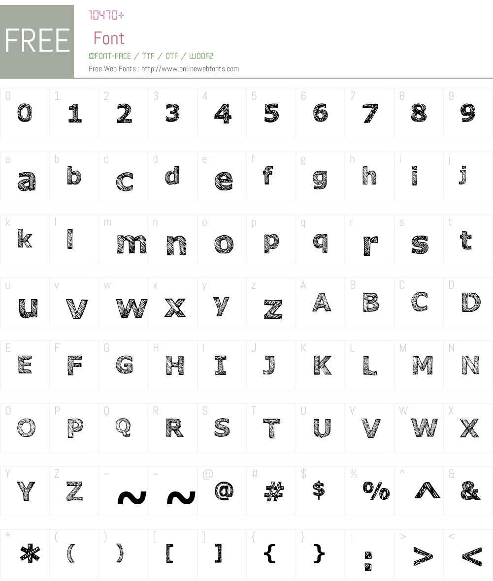 Verdana HAND Font Screenshots