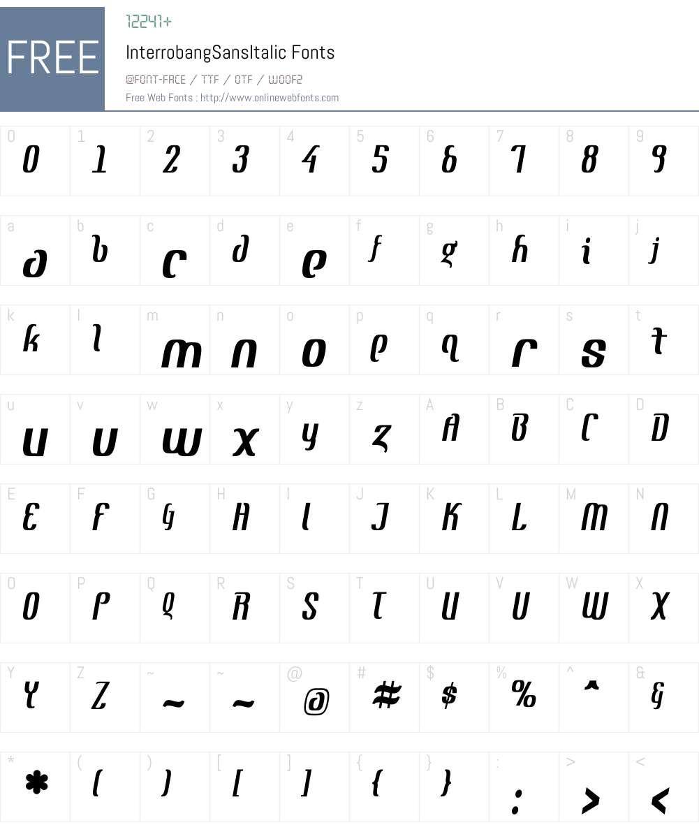 InterrobangW00-SansIt Font Screenshots
