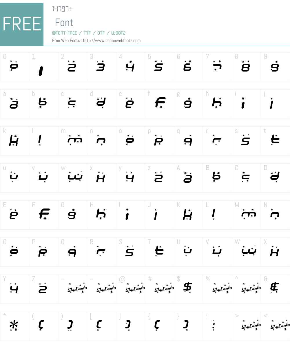 SF Technodelight Font Screenshots