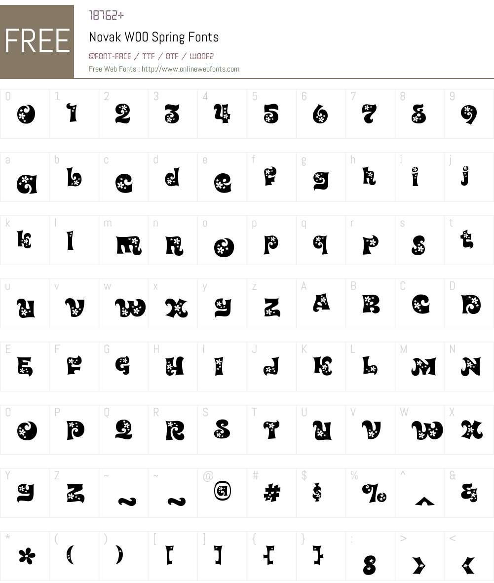 NovakW00-Spring Font Screenshots