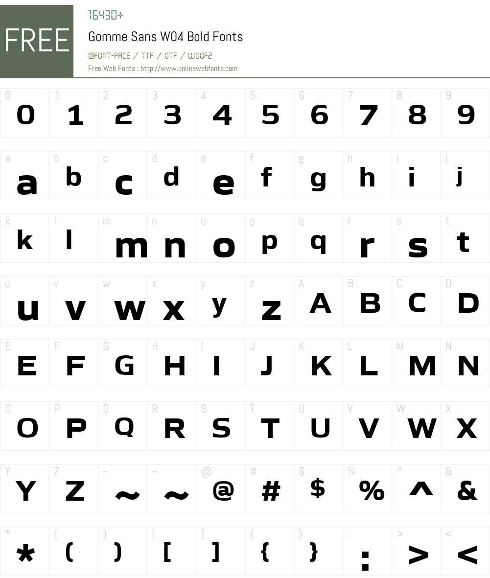 Gomme Sans Font Screenshots