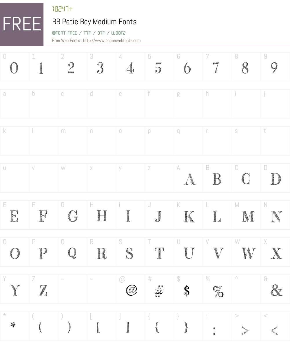 BB Petie Boy Font Screenshots