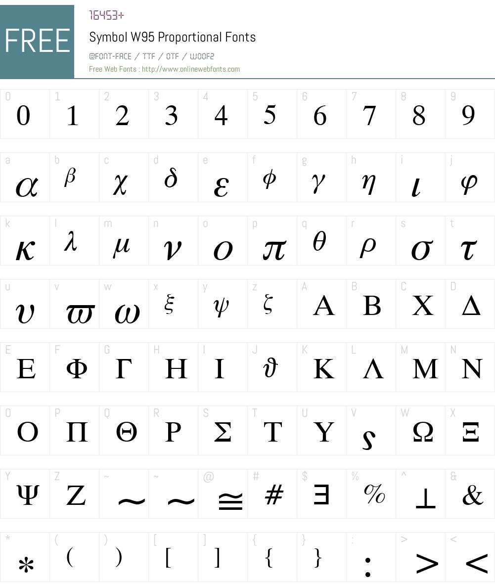 Symbol Font Screenshots