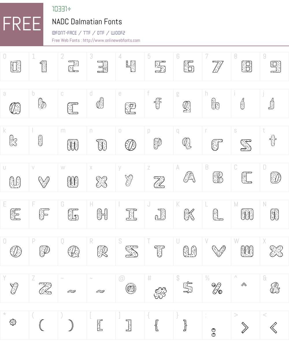 NADC Dalmatian Font Screenshots