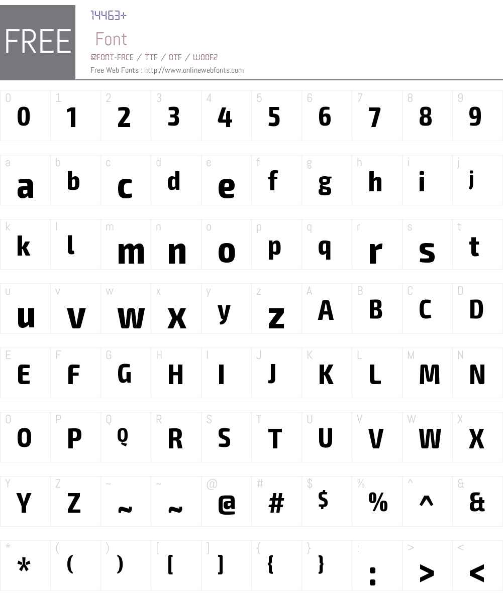Exo 2 Condensed Font Screenshots