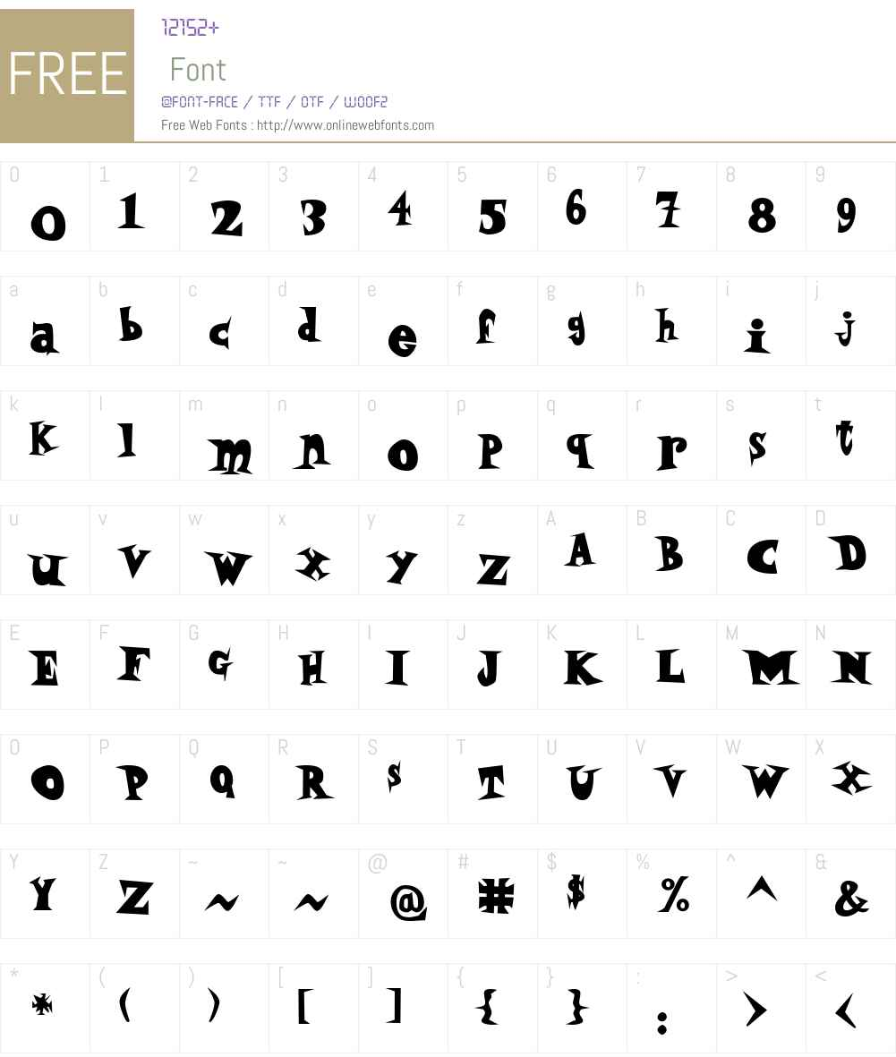 P22 Daddy O Fatface Font Screenshots