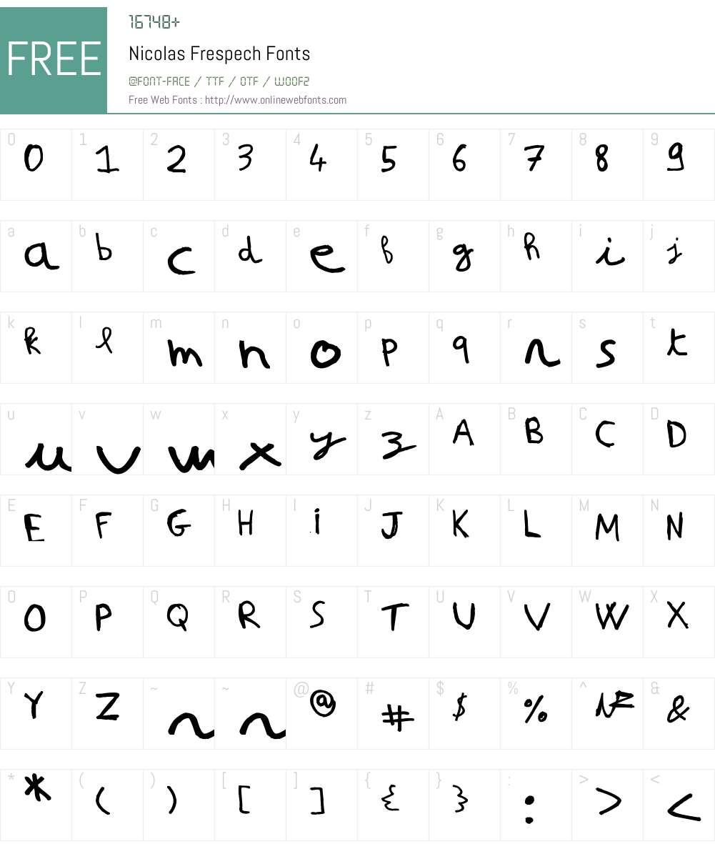 Nicolas Frespech Font Screenshots