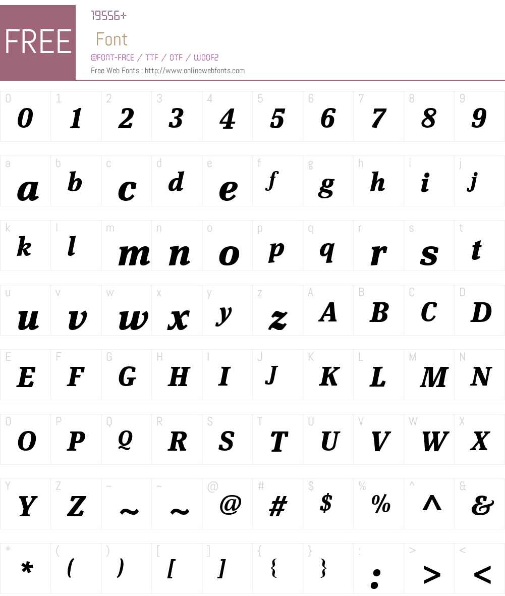 ScherzoW01-BoldItalic Font Screenshots