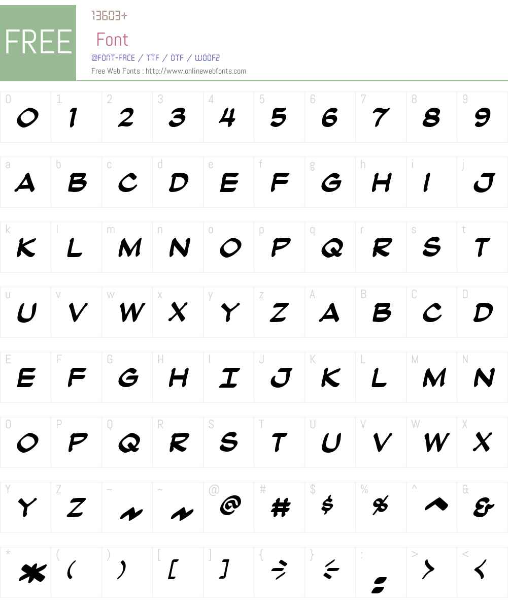 AtlandBB-BoldItalic Font Screenshots