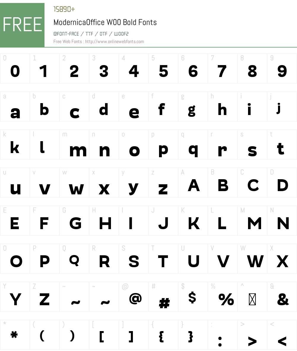 ModernicaOfficeW00-Bold Font Screenshots