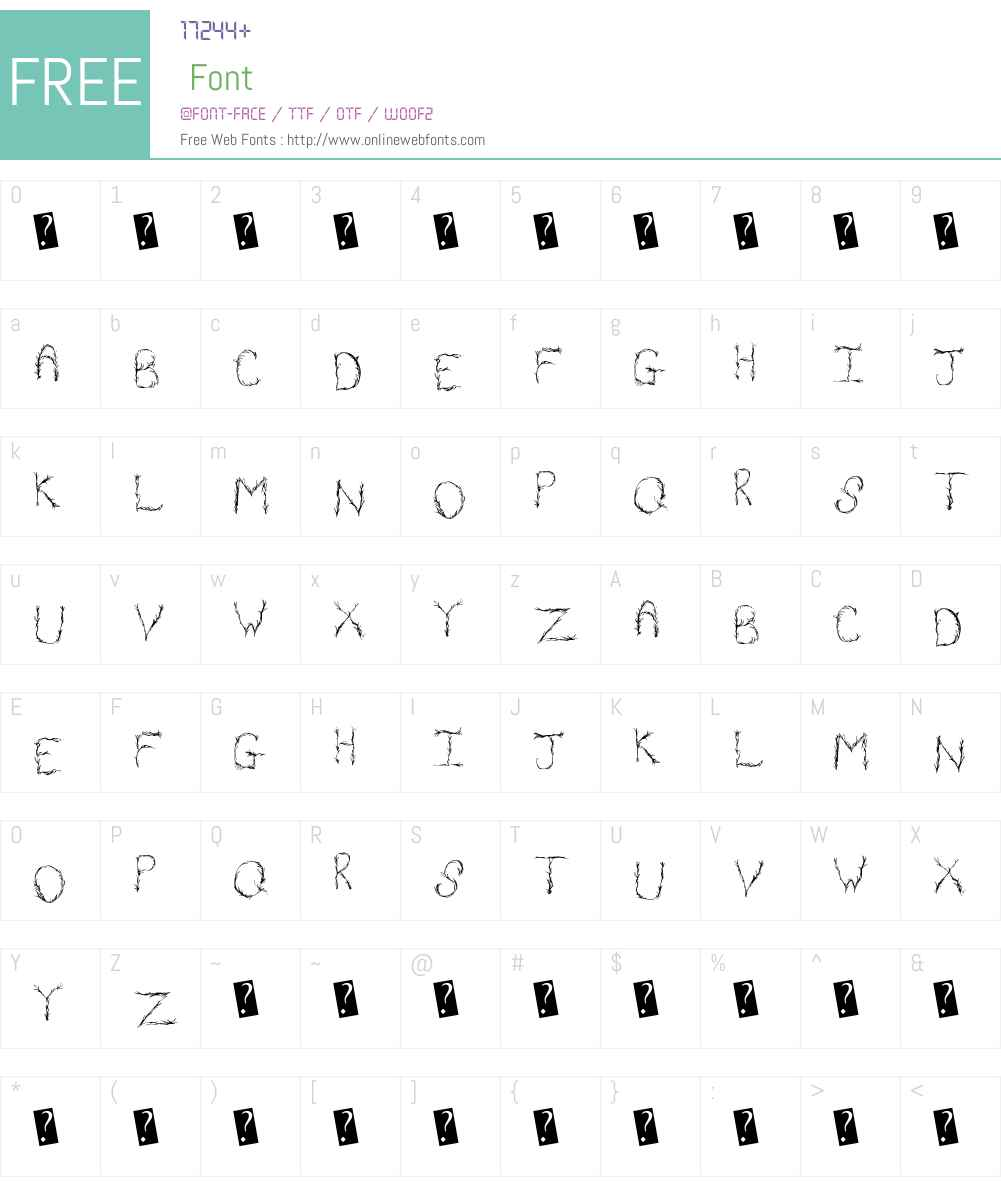 OrganicVines Font Screenshots
