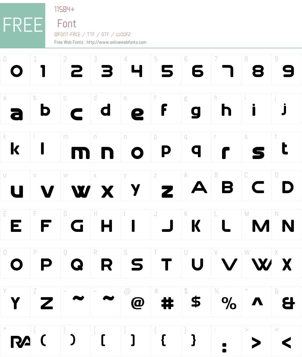 Rai Text 1983 Lowercase Font Screenshots
