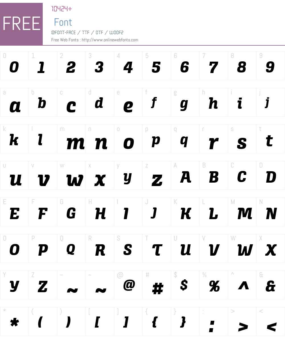 AlianzaW03-Italic800 Font Screenshots