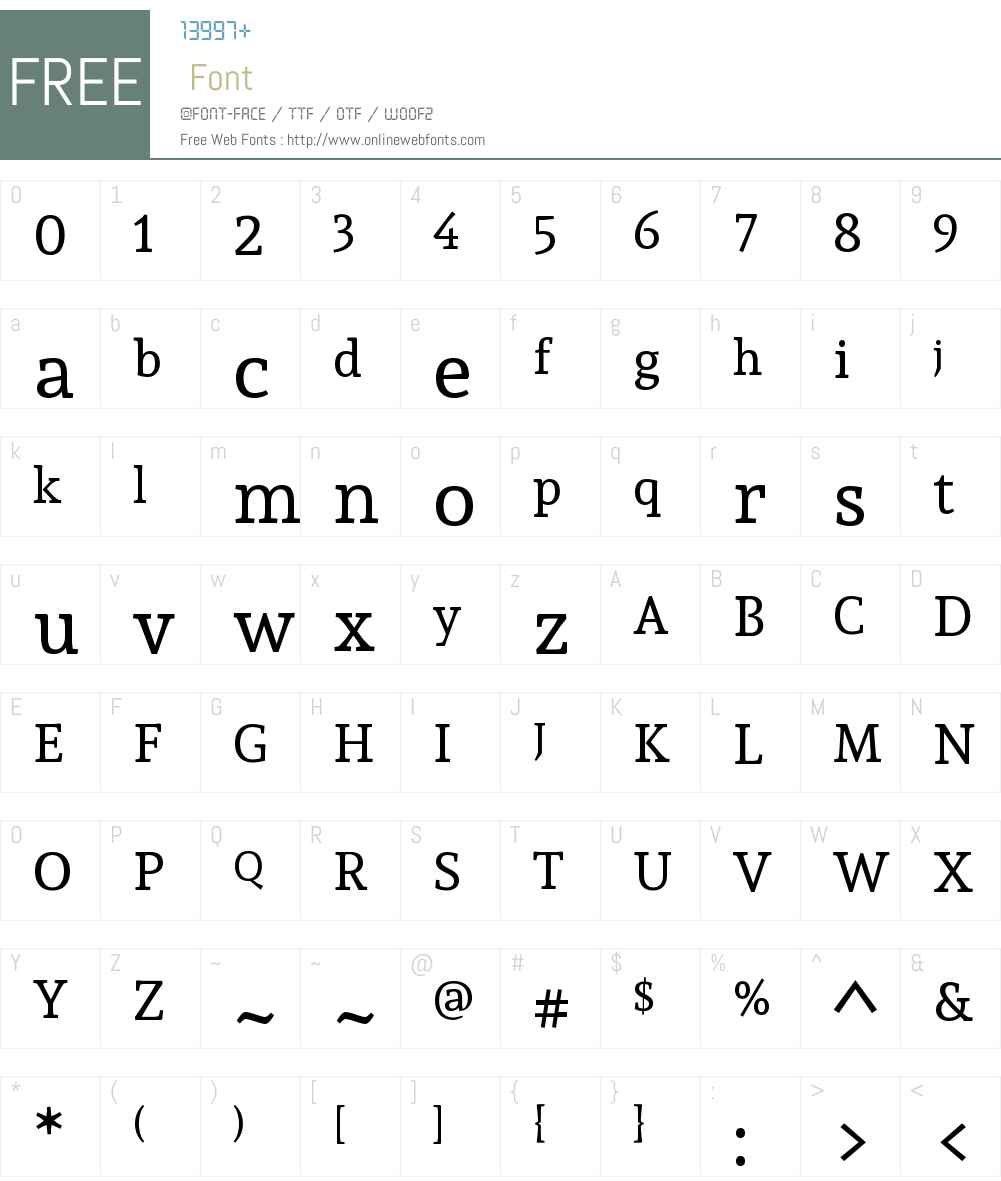 Andada Font Screenshots