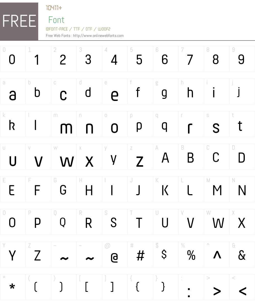 HansomFYW01-Regular Font Screenshots