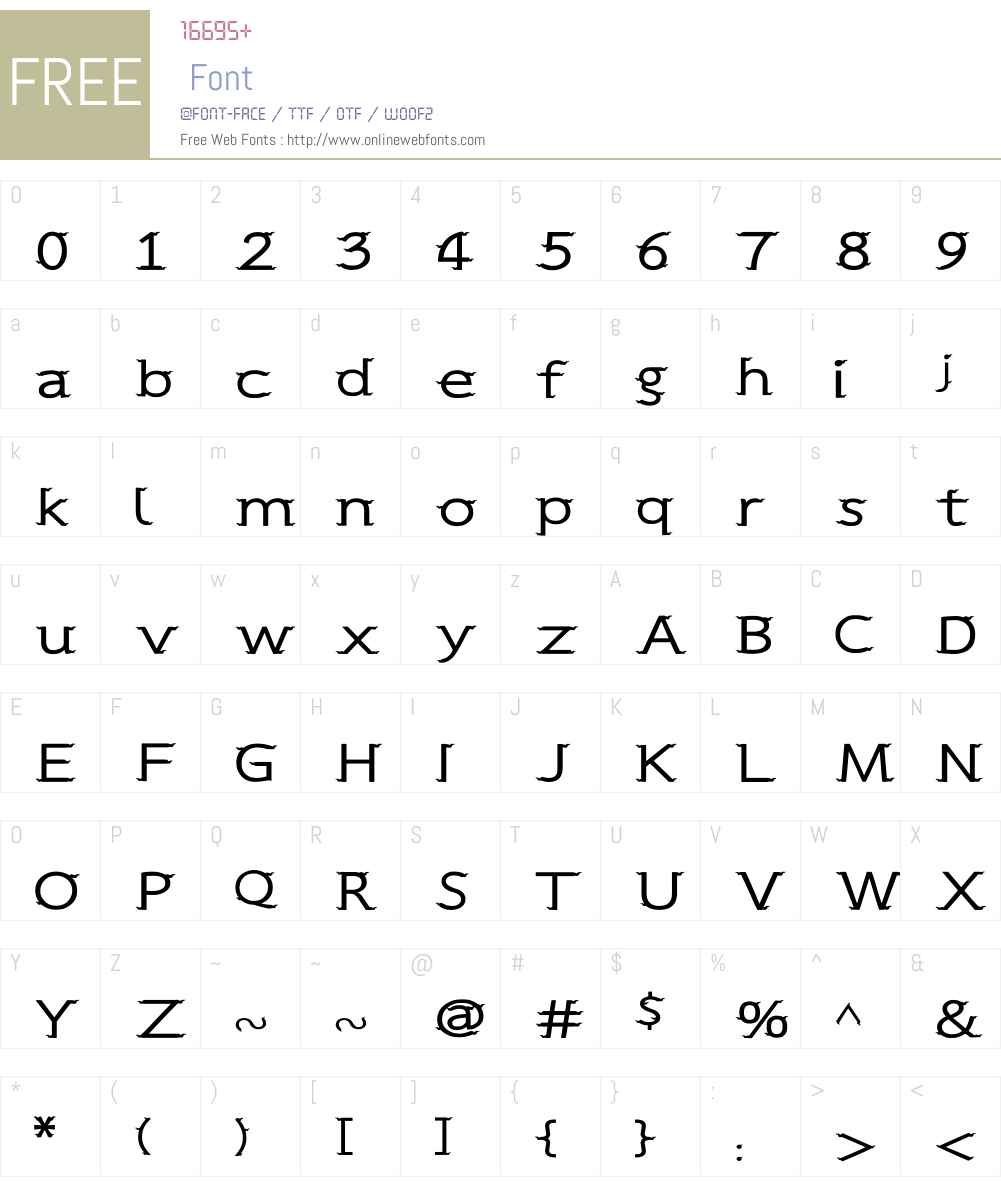 CRU-Sukkawitt-Regular Font Screenshots