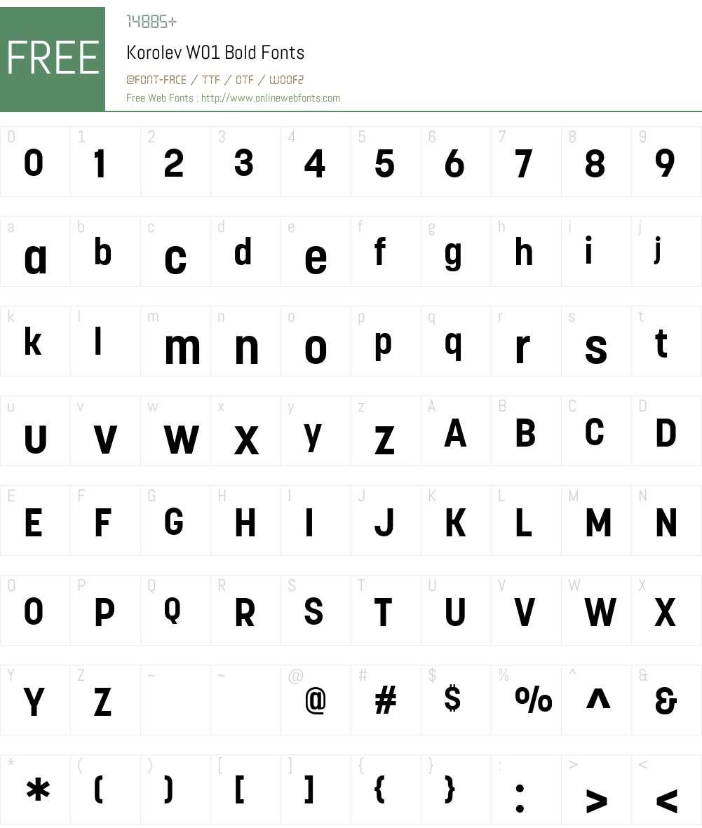 KorolevW01-Bold Font Screenshots