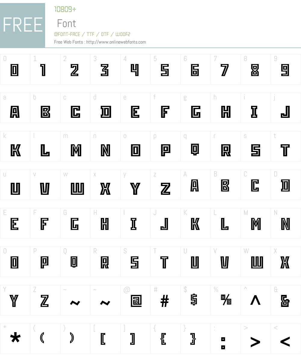 ITCStenbergW01-Inline Font Screenshots