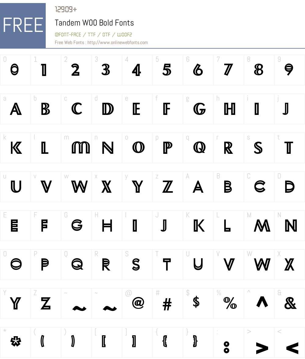 TandemW00-Bold Font Screenshots