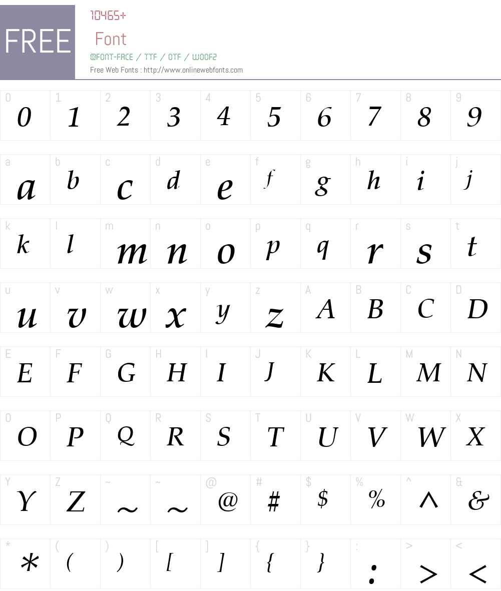 Palatino nova Font Screenshots