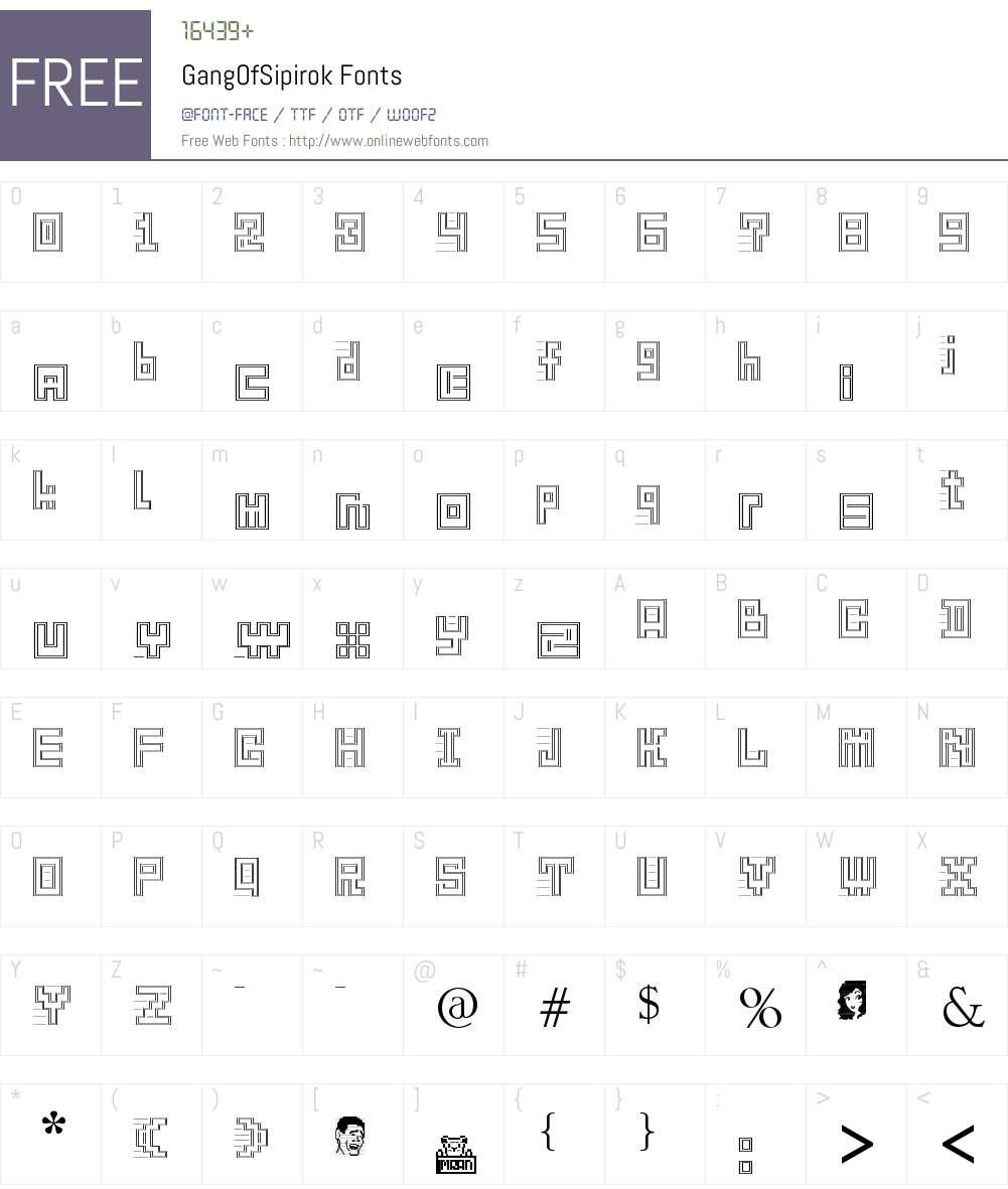 GangOfSipirok Font Screenshots