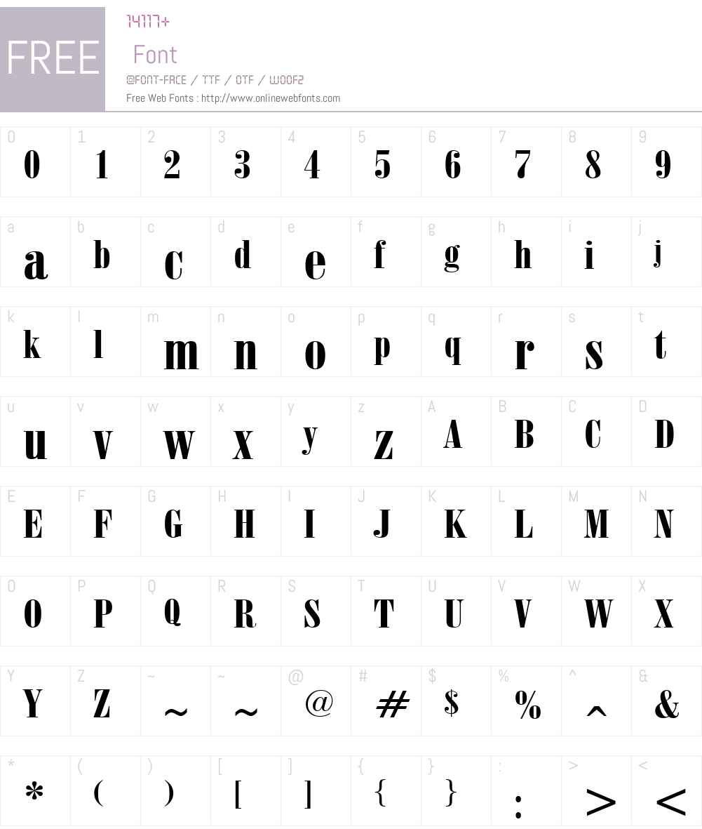 ObeliskGrand Font Screenshots