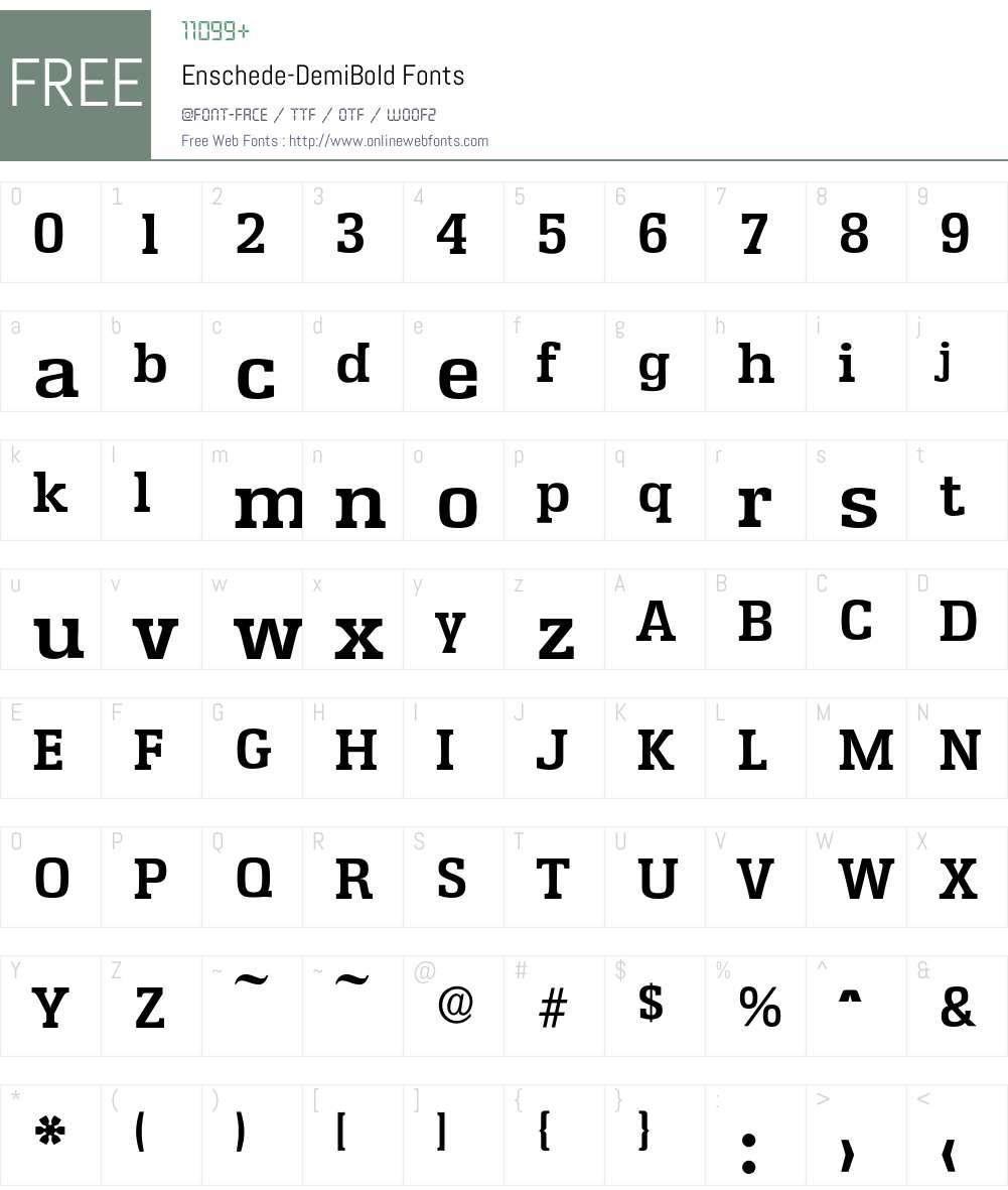 Enschede-DemiBold Font Screenshots