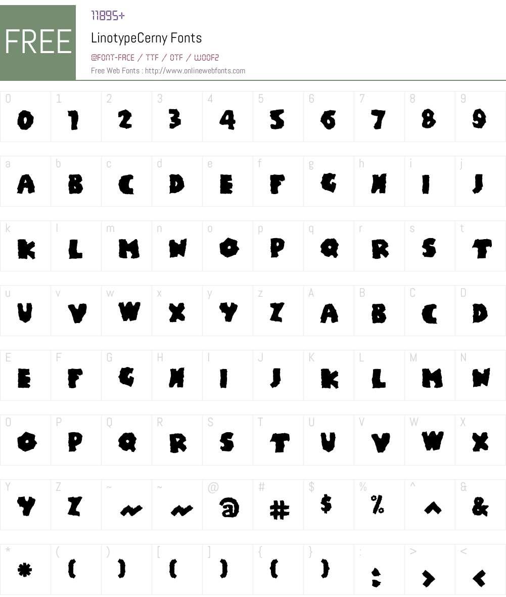 LTCerny Font Screenshots