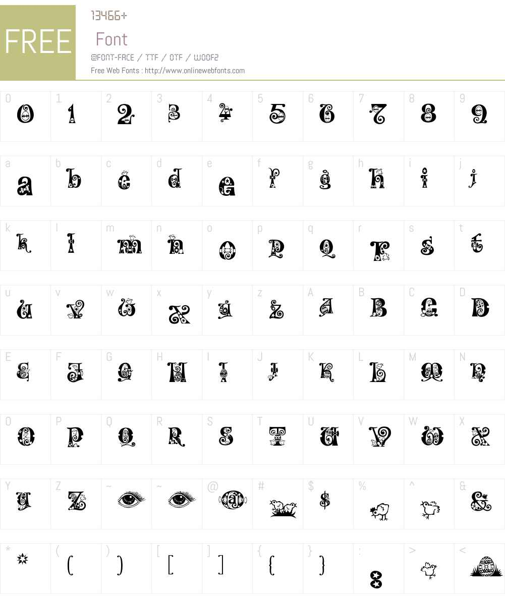 Kingthings Eggypeg Font Screenshots