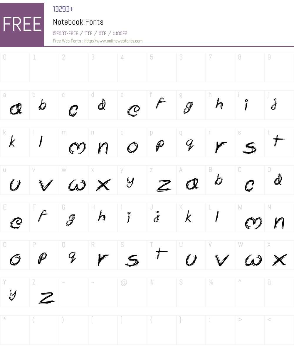 Notebook Font Screenshots