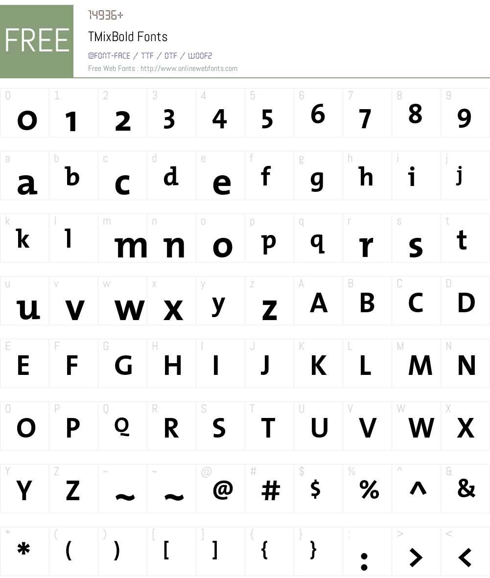TMixBold Font Screenshots